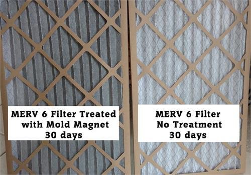 mold magnet furnace filter treatment spray to eliminate mold and bacteria from the air