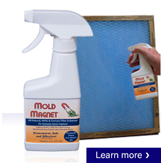 Extreme mold and allergen capture in furnace filter